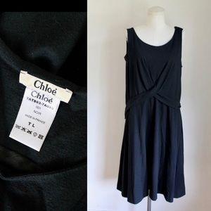 Vintage 1990s Coloé Black Wool Dress